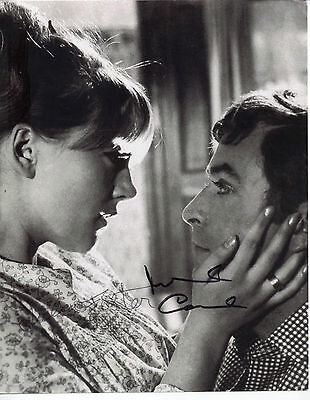 "STUNNING 10"" x 8"" B&W PHOTO (COA) SIGNED BY MICHAEL CAINE & JULIA FOSTER ""ALFIE"""
