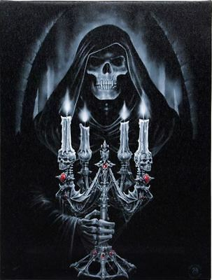 """Candelabra Canvas Plaque by Anne Stokes 10"""" x 7"""""""