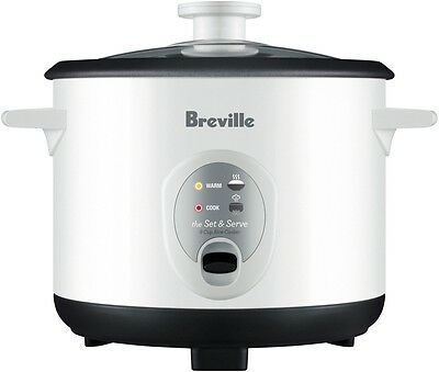 NEW Breville 8 Cup Set & Serve Rice Cooker 8 Cup BRC200