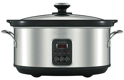 NEW Breville BSC420BSS The Smart Temp 6L Slow Cooker