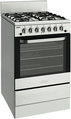 NEW Chef CFG504SANG 54cm Gas Upright Cooker