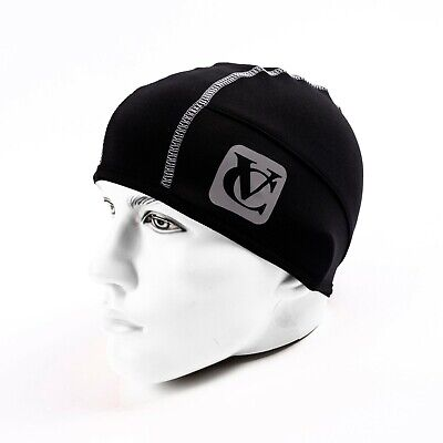 VeloChampion Thermo Tech Cycling Skull Cap - Under Helmet Hat - Black