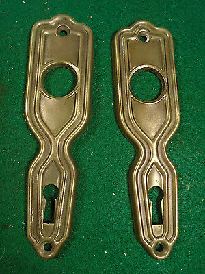 PAIR of SALVAGED ART DECO  STAMPED STEEL BACKPLATES - (1593-T)