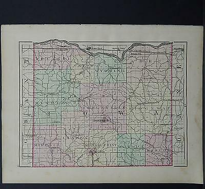 Wisconsin, 1876 County Map, Iowa or Dane County, Double Sided M11#03