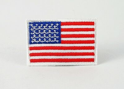 Us American National Flag Medium Iron/sew On Patch Embroidered Applique T-Shirt