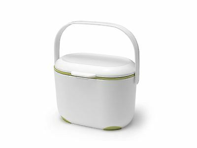 Addis White Kitchen Waste Food Recycling Compost Caddy Bin 2.5L