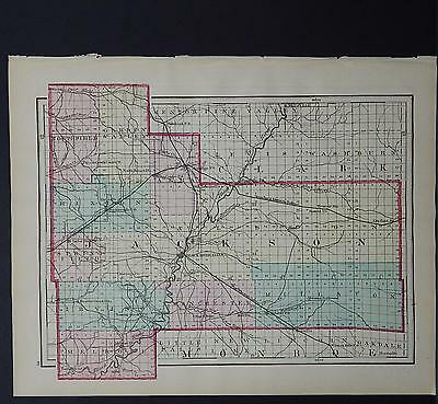 Wisconsin, 1876 County Map, Jackson or Trempealeau County, Double Sided M11#15