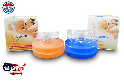 2 (TWO)  Stop Snoring Mouthpieces SMALL & REG MouthGuard Sleep Snore Guard Grind
