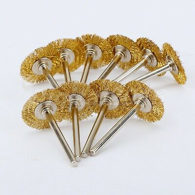 10pcs Brass Wire Wheel Flat Brushes Polishing Tool for Rotary Polishing Tool