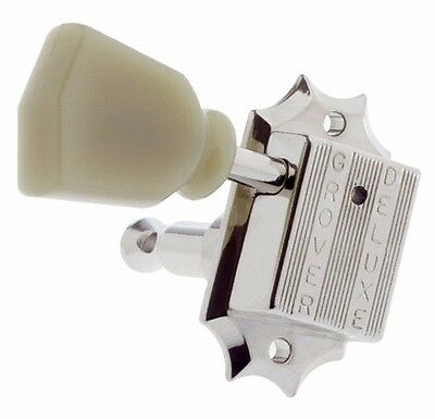 NEW - Grover 135N 3X3 Vintage Style Tuners, Keys for Gibson Les Paul - NICKEL