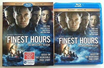 Disney The Finest Hours Blu Ray + Slipcover Sleeve Free World Wide Shipping