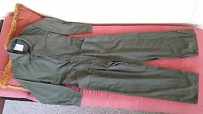 NEW US Military Jumpsuit Men's M to XL Fatigue Green Buttons