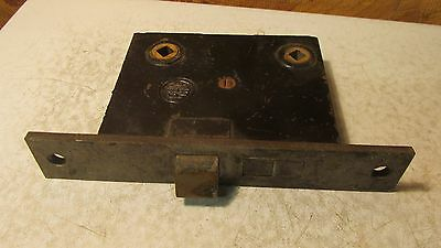 Antique RH Co. Cast Iron Mortise Lock  No. 28