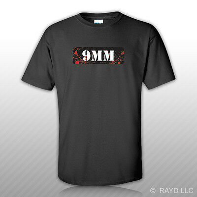 9MM Ammo Can T-Shirt Tee Shirt Free Sticker Zombie Edition bullet mm