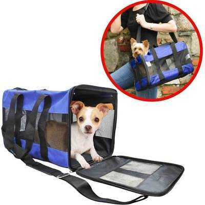 43cm Pet Carrier Portable Foldable Travel Crate Cage Kennel Bag Dog/Cat/Puppy