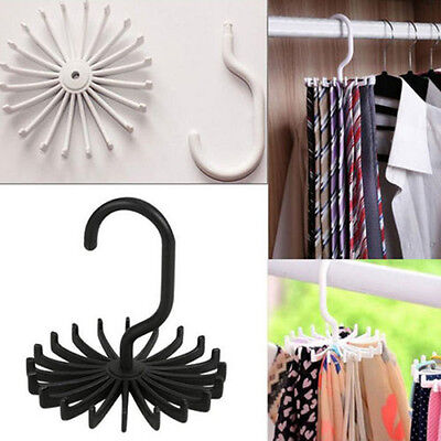 Newly Rotating Tie Rack Adjustable Tie Hanger Holds 20 Neck Ties Organizer Men