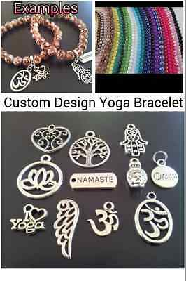 Yoga Bracelet - Custom Design Your Own - Namaste-Buddha-Hamsa Hand-Om-Dream