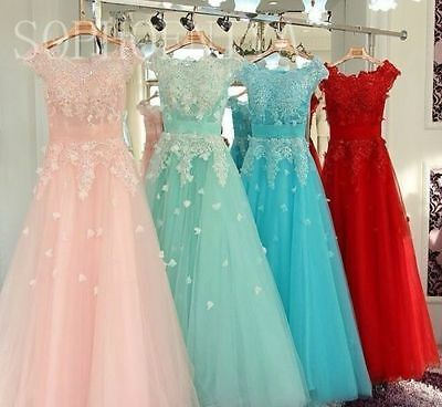 Wedding Party Bridesmaid Dresses Formal Long Ball Gown Evening Party Prom Dress