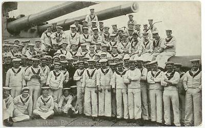 c1910 British Bluejackets - Navy sailors on WWI Dreadnaught