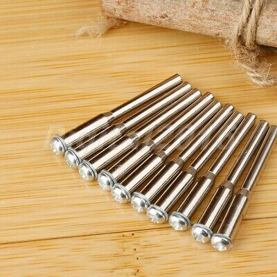 "10pcs 1/8"" Shank Mandrel For Grinder Cutting Off Wheel Disc Holder Rotary Tool"