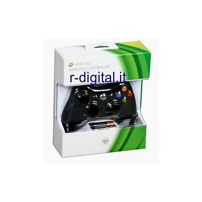 Joypad Xbox 360 Black Wireless Microsoft Controller Nero Wifi Originale