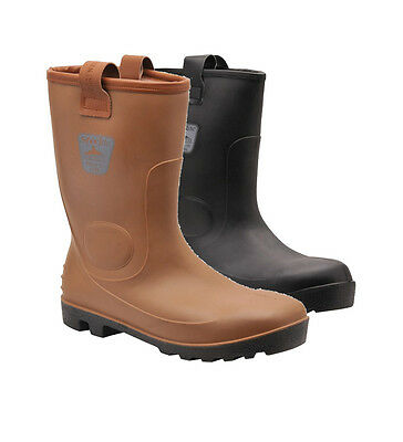 Portwest Steelite Neptune Rigger Style Waterproof Wellie / Welly Boot S5 CI