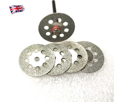 5 pcs Vented Mini diamond cutting disc + 1 mandrel