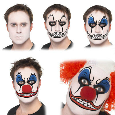 Clown Face Paint Make up Kit with Red Nose Halloween Accessories Smiffys 37805