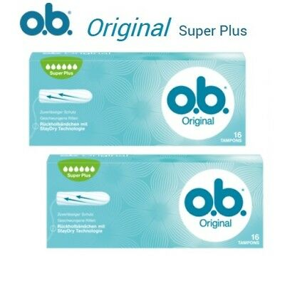 O.B. Tampons - Original Curved Grooves Super Plus Tampons 2 x 16pcs