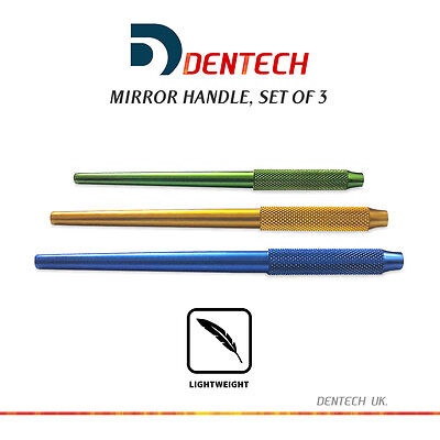 Mirror Handle Dentist Inspection Hygienist Dental Instruments Set Of 3