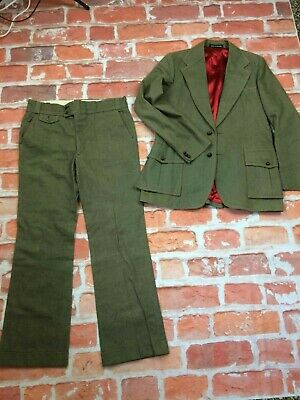 AUTHENTIC Costume Suit Traje Made in England True Vintage 70s Old School Rare