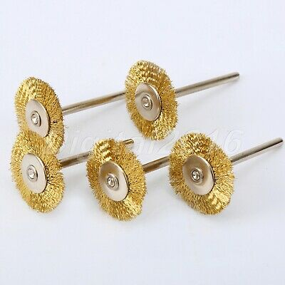 """5PCS 0.98"""" Brass Wire Wheel Brush Cleaner Polishing Power 25MM for Rotary Tools"""