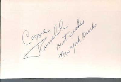 CAZZIE RUSSELL SIGNED 4x6 INDEX CARD KNICKS AUTO AUTOGRAPH