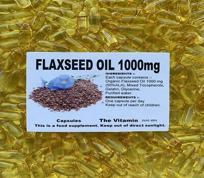 FLAXSEED OIL 1000mg 120 Capsules FREE POSTAGE     (L)