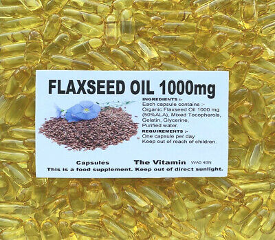 FLAXSEED OIL 1000mg 180 Capsules FREE POSTAGE     (L)