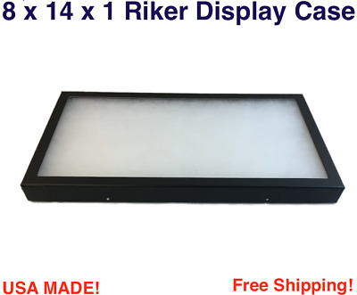 8 x 14 x 1 Riker Display Case Box for Collectibles Arrowheads Jewelry & More