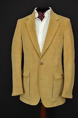 "Vintage 1970's Tan Corduroy Jacket 36"" Regular"