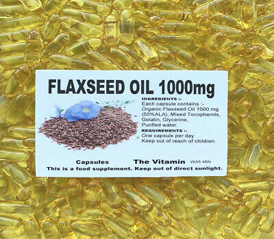 """FLAXSEED OIL 1000mg 1000 Capsules    """"BUY IN BULK""""        FREE POSTAGE     (L)"""