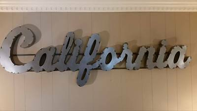 California Large Vintage Industrial Style  Script Metal Sign MADE IN THE USA