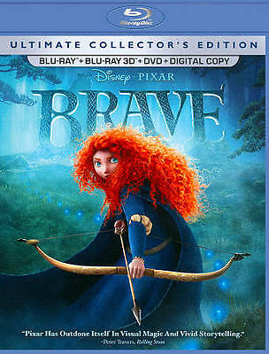 Brave 3D Blu-ray DVD 2012 5-Disc Ultimate Collector's Edition Disney