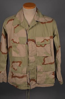Vintage 90s Military US ARMY Desert Storm M-65 Camo Field Jacket MEDIUM