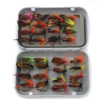 32pcs Fly Fishing Flies Assortment Trout Flies Lures Hook Tackle Accessories