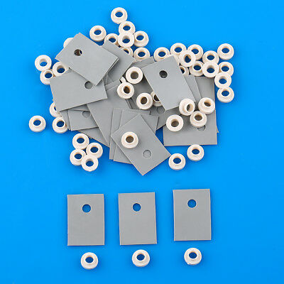 100 pcs TO-220 Silicone Rubber Pad Insulation Chip + 100 M3 insulation tablets