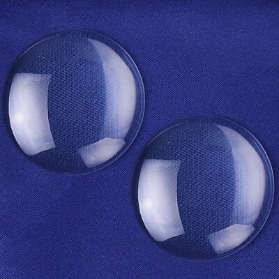 38mm Clear Round Glass Dome Cabochon Glass Tile Flatback Crystal 50pc C1677