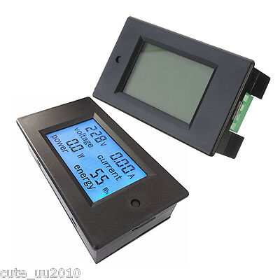 DC 20A/200W Amp Volt Combo Meter Battery Capacity Power Charge Discharge Monitor