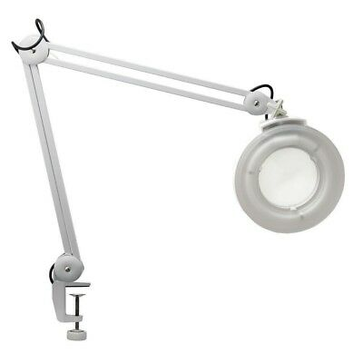 Magnifying Lamp Glass Lens Round Head Beauty Magnifier Table Clampable White