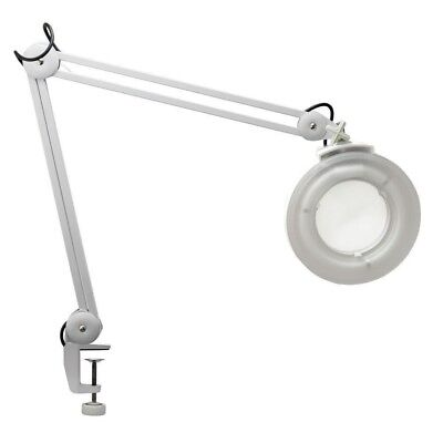 Magnifying Lamp Glass Lens Round Head LED Fluorescent Beauty Magnifier Clampable