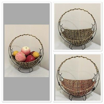 Fruit Basket With Handle Home Kitchen Decor