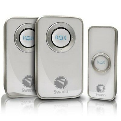 Swann SWHOM-DC820P2-AU Wireless AC Door Chime (2 PK) with GEN SWANN WARR