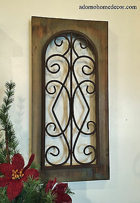 Metal Wood Wall Panel Antique Vintage Rustic Chic Industrial Unique Wall Decor